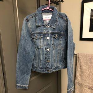 Mid length jean jacket NWT